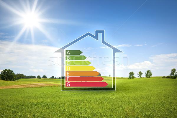 Sera güneş enerji verimliliği grafik görüntü çim Stok fotoğraf © magann