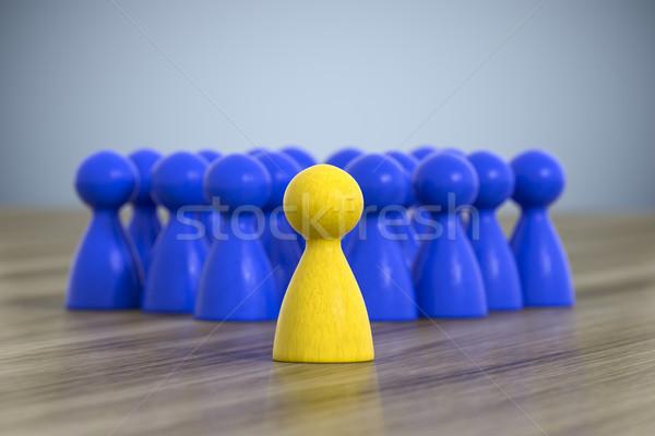 Csoport játék 3d illusztráció üzlet munka űr Stock fotó © magann