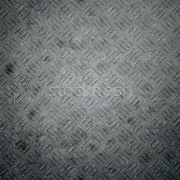 Acél tányér kép szép fém absztrakt Stock fotó © magann