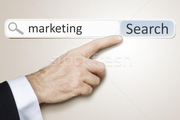 веб поиск изображение человека поиск маркетинга Сток-фото © magann