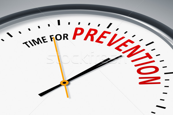 clock with text time for prevention Stock photo © magann
