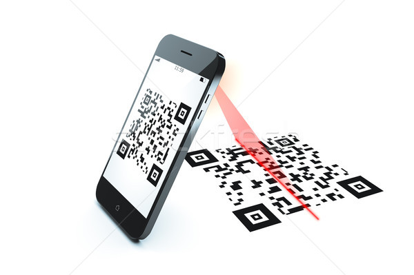 qr code scan Stock photo © magann