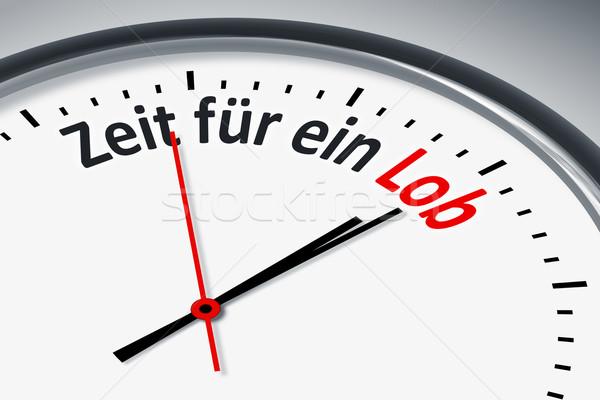 Zegar tekst obraz typowy czasu pochwały Zdjęcia stock © magann