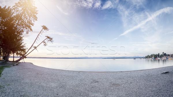 Halszem kép tó Németország felhők utazás Stock fotó © magann