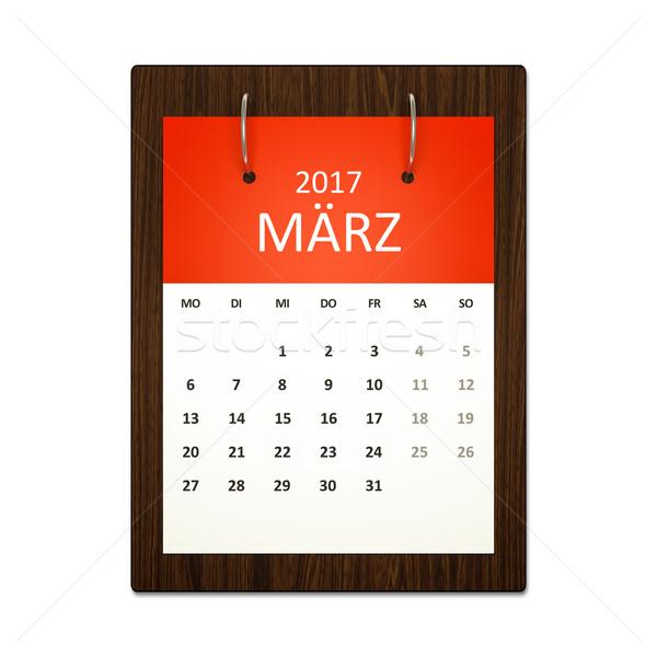 Calendar Planning German 2017 Stock photo © magann