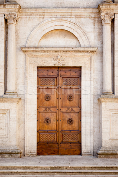 Wooden Door in Pienza Italy Stock photo © magann