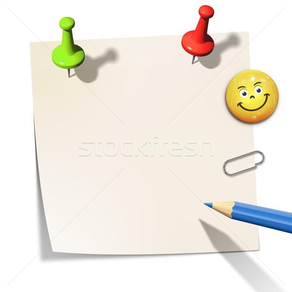 Kâğıt mesaj bo ofis kalem arka plan Stok fotoğraf © magann