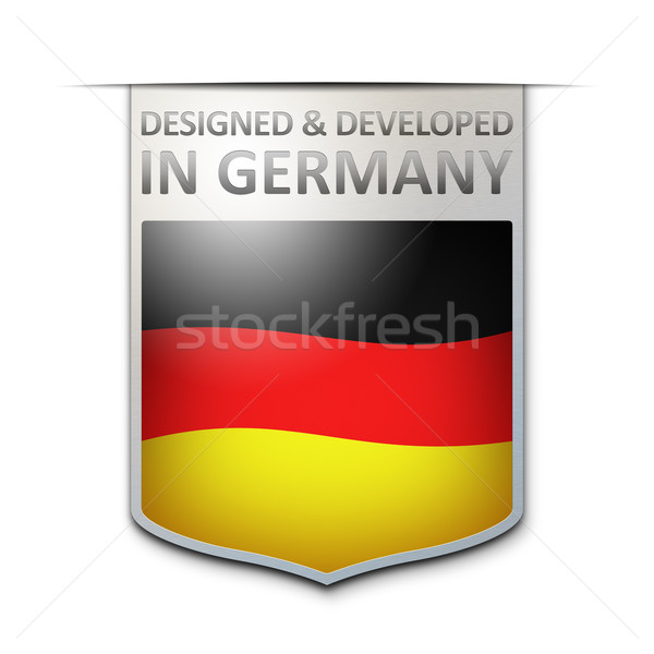 designed and developed in germany badge Stock photo © magann