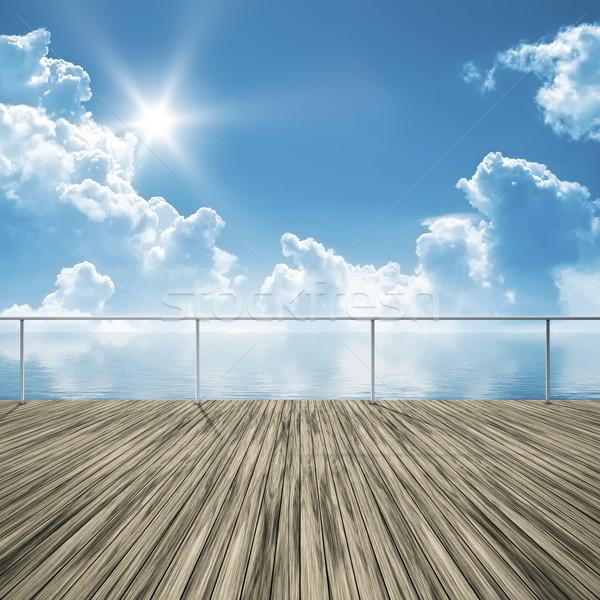 Pier imagem bom brilhante verão dia Foto stock © magann