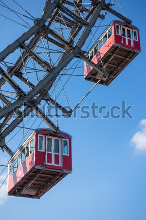Detail of the famous ferris wheel at Prater Vienna Stock photo © magann