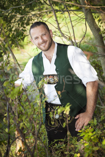 a man in bavarian traditional cloth Stock photo © magann