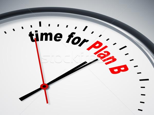 Zaman plan b görüntü güzel saat iş Stok fotoğraf © magann