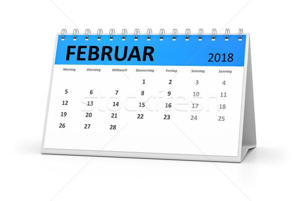Linguagem tabela calendário 3D eventos Foto stock © magann