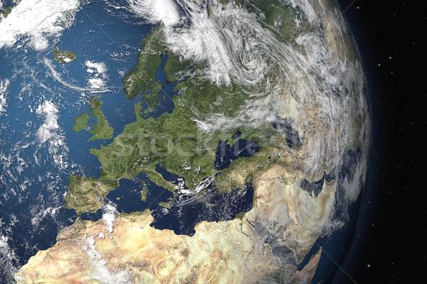 Tierra vista imagen espacio 3D gráfico Foto stock © magann