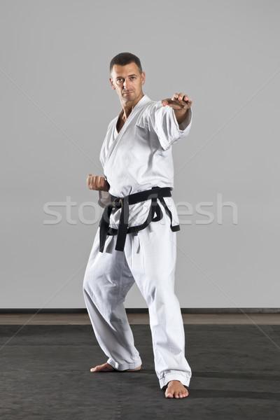 Dövüş sanatları görüntü adam spor sağlık Stok fotoğraf © magann