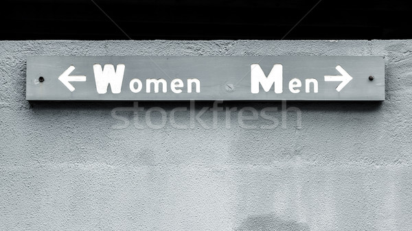 women men sign Stock photo © magann