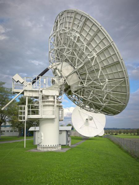 Antena satelitarna obraz duży budowy zielone niebieski Zdjęcia stock © magann