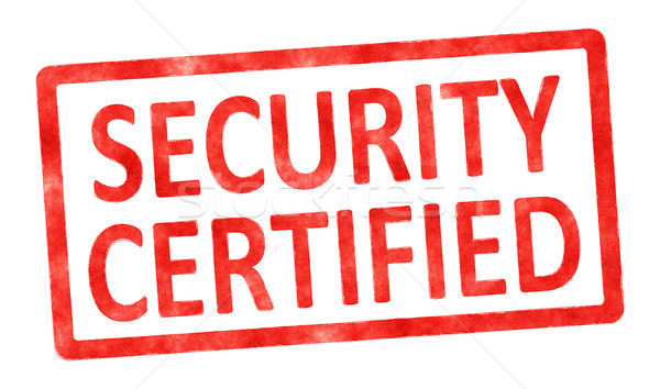 stamp security certified Stock photo © magann