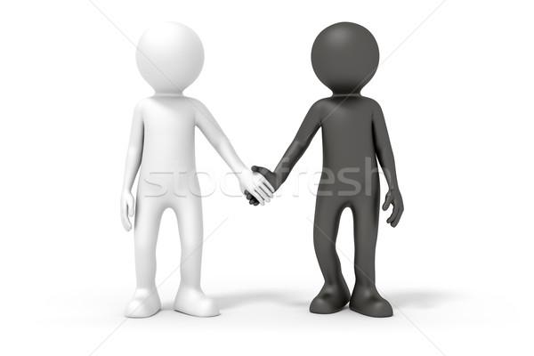 black and white couple Stock photo © magann