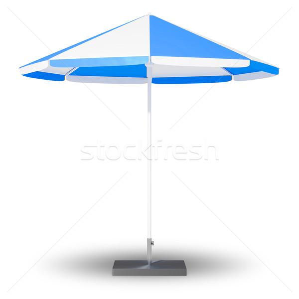 Nap elleni védelem esernyő kép nap háttér kék Stock fotó © magann