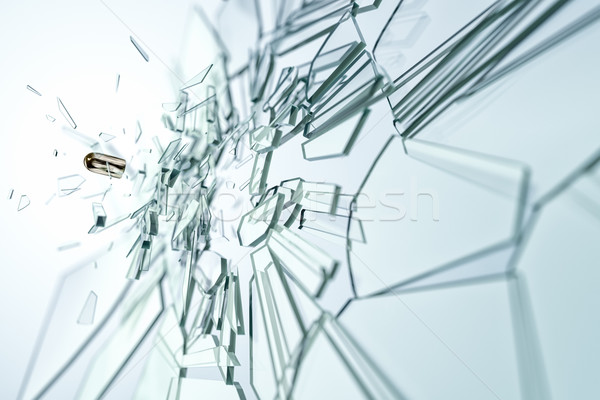 glass damaged bullet Stock photo © magann