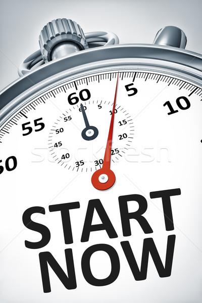 stopwatch with text start now Stock photo © magann