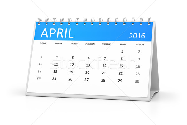 blue table calendar 2016 april Stock photo © magann