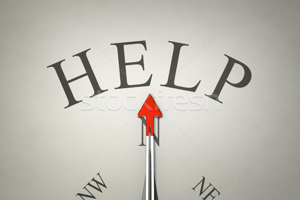 Stock photo: Compass help