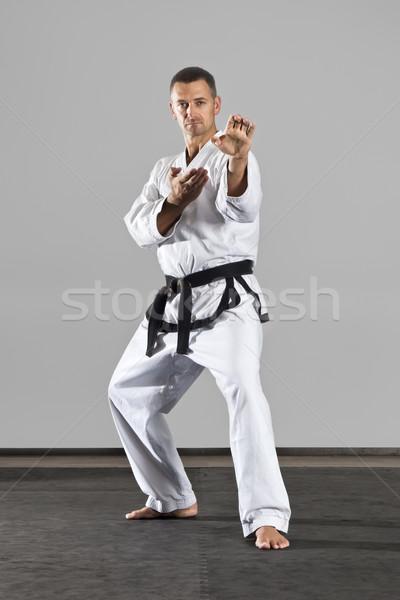 боевыми искусствами изображение человека спорт здоровья Сток-фото © magann