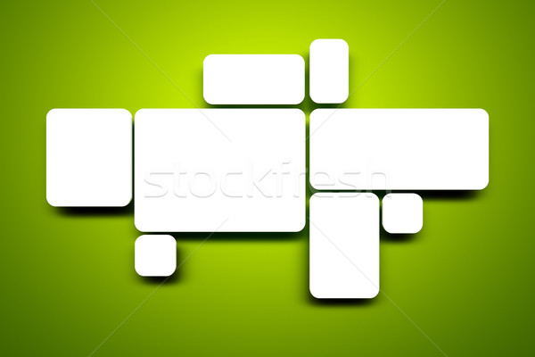 blank images on green wall Stock photo © magann