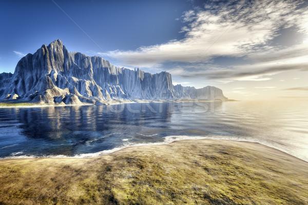 Fantázia tájkép kép szép tengerpart díszlet Stock fotó © magann