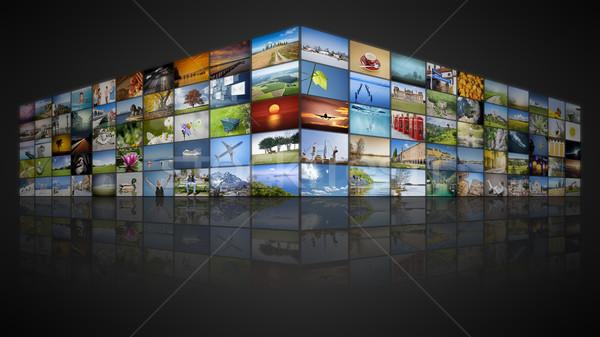 100 screens video wall Stock photo © magann