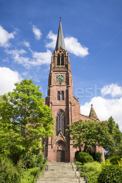 the red sand stone church at Nagold Germany Stock photo © magann