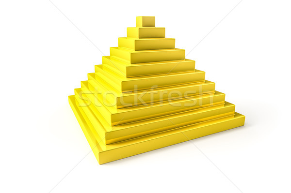 abstract golden pyramid Stock photo © magann