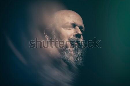 bearded bald man Stock photo © magann