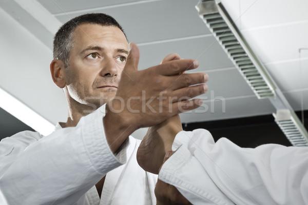 Vechtsporten meester afbeelding man sport gezondheid Stockfoto © magann