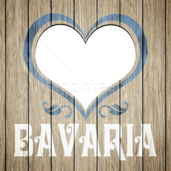wooden heart Bavaria Stock photo © magann