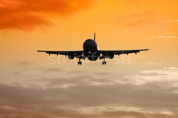 air plane sunset Stock photo © magann