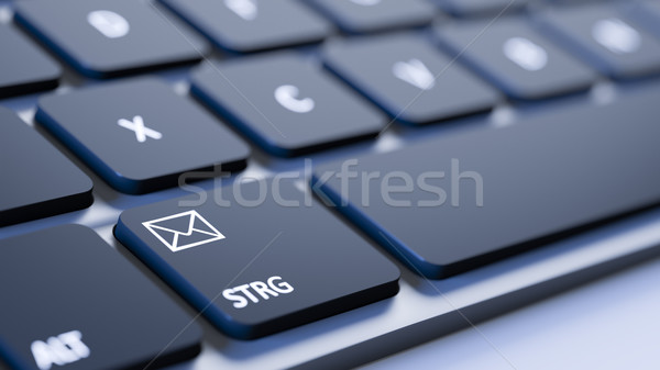 keyboard mail sign Stock photo © magann