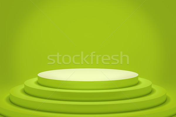 緑 表彰台 スペース コンテンツ 3D レンダリング ストックフォト © magann