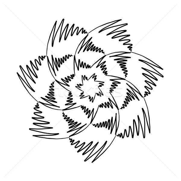 Mandala blanco negro imagen agradable flor diseno Foto stock © magann