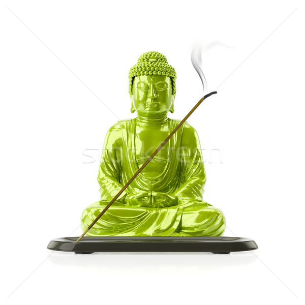 Buddha with a incense stick Stock photo © magann