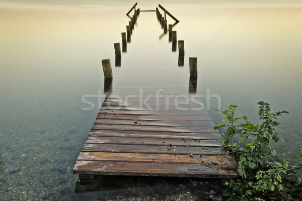 jetty under water Stock photo © magann