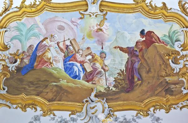 Foto stock: Imagem · belo · religioso · cara · parede