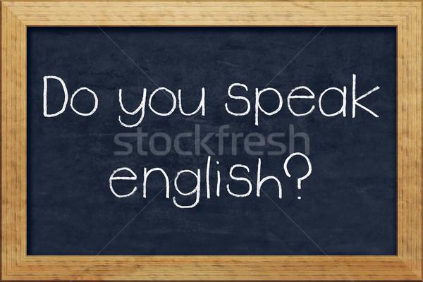 Do you speak english? Stock photo © magann