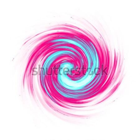 Rose turquoise tourbillon illustration art Photo stock © magann