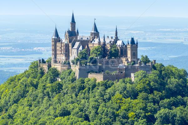 Burg Bild Süden Himmel Sommer grünen Stock foto © magann