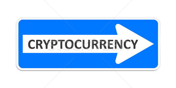 german one way sign with the word cryptocurrency Stock photo © magann