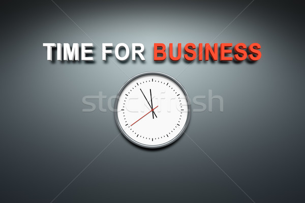 Time for business at the wall Stock photo © magann