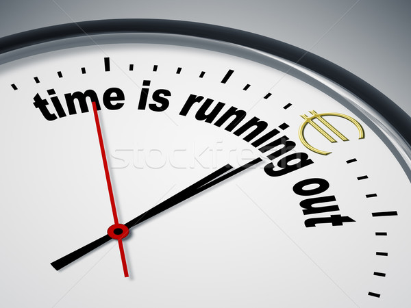 time is running out for Euro Stock photo © magann